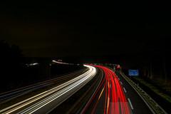 Lightpainting on Bridge (Tob von Lix) Tags: langzeitbelichtung nachtaufnahme autobahn sinzing regensburg night lightpainting highway bridge lichtspuren
