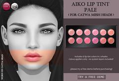 Aiko Lip Tint Pale CATWA (for FLF) (Izzie Button (Izzie's)) Tags: flf fiftylindenfridays sl catwa makeup
