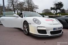 Porsche 911 GT3 997 (Monde-Auto Passion Photos) Tags: auto automobile porsche 911 gt3 coup blanc 997 france rally paris evenement sportive supercar
