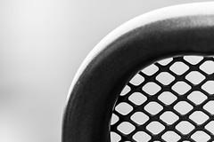 Caged Space (Wargus) Tags: abstract autofocuslens blackwhite chair edgy garden hdpentaxda55300plm home mono monochromelandscape pentaxk3 preset