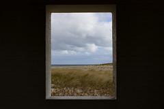 Window with a view. (stephen_tvedt) Tags: beach window nantucket massachusetts grass lighthouse island ocean clouds cloud sky sand sanddune