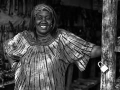 Namibia - Woman b/w (sharko333) Tags: travel voyage reise africa afrika afrique namibia okahandja people portrait woman olympus em1 bw
