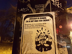Crosseur de demain (Exile on Ontario St) Tags: crosseur clac convergence luttes anti capitalistes affiche flyer sign event rassemblement rallye protest activism manif manifestation banks bank bankers money capitalisme capitaliste capitalism anticapitalism anticapitalistes anticapitaliste anticapitalisme parcjeanbrillant crosseurs patronat patrons capital plateau parclaurier parc laurier park leplateau plateaumontroyal montroyal montréal mont royal montreal night nuit soir evening poster