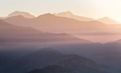 Sarangkot Sunrise, Pokhara (JoshyWindsor) Tags: travel nepal mountains sunrise landscape dawn scenic hills layers viewpoint pokhara ridges valleys sarangkot canonef24105mmf4 canoneos6d