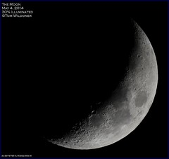 Crescent Moon May 4 2014 (LeisurelyScientist.com) Tags: moon night canon dark timelapse may crescent craters crater astrophotography astronomy nightsky moonset waxing meade astronomer 2014 lx90 waxingcrescent t4i tomwildoner