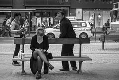 Curious (Olderhvit) Tags: street people blackandwhite göteborg gothenburg streetphotography panasonic streetphoto curious curiosity petri goteborg 2014 gatufoto gx1 gatufotografi framingthestreet olderhvit p1110067