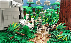 Endor Construction Site (Disco86) Tags: paul star shadows lego perspective sone adventure wars forced markus roleplay endor nar microscale montari brickstorm eurbrikka