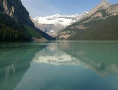 Banff NP ~ Lake Louise (karma (Karen)) Tags: canada mountains topf25 reflections lakes alberta glaciers lakelouise 4summer ipad banffnp