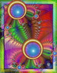 Colour High (Rosemarie.s.w) Tags: digitalart fractal multicolour fractalart ultrafractal uf5 ultrafractal5 vividstriking