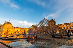 20140623paris-394 (olvwu | ) Tags: city longexposure light sunset sky cloud paris france reflection museum night landscape dusk  musedulouvre louvremuseum    jungpangwu oliverwu oliverjpwu olvwu   jungpang