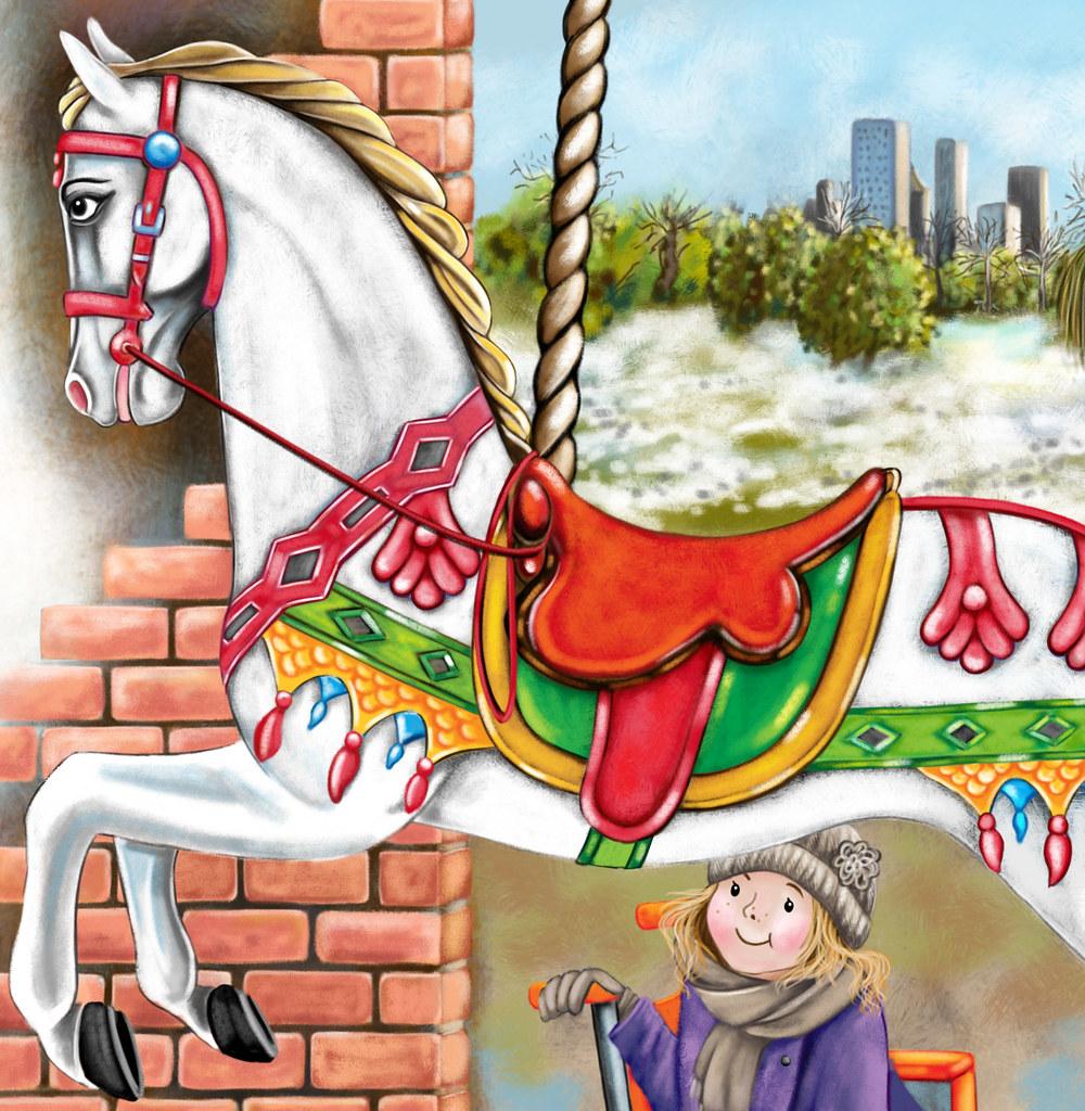 ELAK L18 The Big Carousel 12 13 Lisa Fox Illustrator Tags Horse Fairground
