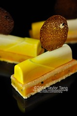 Tropicana Exotique (TailorTang) Tags: stilllife food cake 50mm cookie coconut mango tuile airbrush gateau mousse passionfruit genoise foodphotography entremet patisserienoir