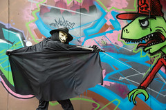 V For Vendetta Cosplay (the_gonz) Tags: urban sexy fetish graffiti costume cool grafitti geek mask cosplay sheffield guyfawkes v superhero vforvendetta dccomics anonymous comiccon fancydress alanmoore dystopian sheffieldstreetart sheffieldgraffiti vforvendettacosplay herocostume anonymousmask hugoweavingv davidlloydvforvendetta superherofancydress vendettasheffield