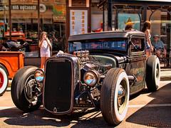 1934 Ford fenderless pickup hot rod (kenmojr) Tags: hot ford truck downtown pickup newbrunswick moncton rod 1934 2014 fenderless atlanticnationals
