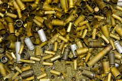 Brass (gordjohnson) Tags: 22 shots guns brass 9mm caliber dirtyharry rounds deserteagle expeneded