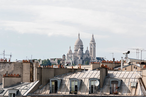 Le Sacré-Coeur depuis les toits de Paris