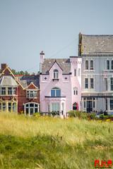 Crosby Beach-72 (Richard Hayward Photography) Tags: ocean uk pink blue sea sky people house building beach monu