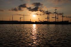 Sunset (HeevixPhotography) Tags: sunset haven netherlands amsterdam clouds boats photography zonsondergang harbour nederland boten lucht heevix