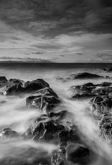 Turnberry_Waves_ (RHSands) Tags: blue b sea sky white seascape black water landscape mono coast scotland big long exposure waves coastal filter lee and stopper turnberry bigstopper