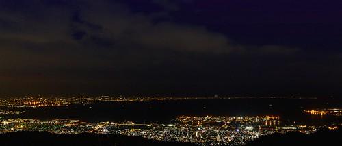 據說是價值1000萬的神戶港夜景