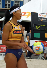 6319_RVaradi (Robi33) Tags: show summer game sport ball court switzerland sand play action competition basel victory player beachvolleyball international block umpire viewers