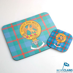 Agnew Clan Crest Mouse Mat and Coaster Set