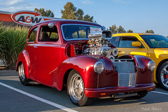 4037 Austin A40 (Organized Chrome) Tags: cruise car night automobile automotive restored hotrod customized modified custom carshow aw streetrod chilliwack prio showandshine