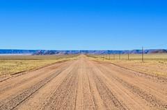 On the gravel roads of the Namib desert (jbdodane) Tags: c13 africa bicycle cycletouring cycling cyclotourisme desert gravel namibdesert namibia road velo freewheelycom day630 jbcyclingafrica