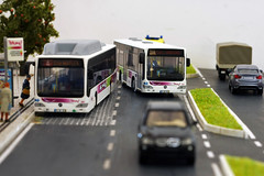 Flexy S07 - Mercedes Citaro K (GelbenOmnibusse) Tags: bus mercedes busse 187 omnibus autocarro modelismo azinheira herpa flexy citaro h0 citarok rietze