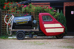 Reliant Ant Pumpout Machine (Sam Tait) Tags: old 3 classic up wheel truck out boats canal ant machine toilet retro pump skool wharf wheeler van pick tanker midlands ashby reliant