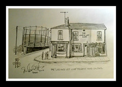 the live and let live by broady 2014 (Broady - Salford art and photography) Tags: camera art beer illustration pencil manchester sketch artwork pub inn drawing ale salford realale regentroad liveandletlive broady broadhurst theliveandletlivebybroady2014