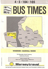 Merseytravel (Wirral) Timetable Route #4, 5, 104, 105 (From 29th January 1990) (Luke O'Rourke) Tags: merseytravel wirral timetable bus mersey birkenhead portsunlight westkirby newbrighton bidston merseybus lairdstreet