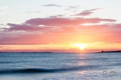 Sunrise over Farne Islands 4 (Pixi.St) Tags: ocean cloud beach strand sunrise wolken sonnenaufgang ozean bamburghbeach