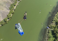 Flipping (Dylan Taylor Photography) Tags: bridge sport jumping nikon unitedstates action extreme idaho twinfalls base parachute d800 perrine