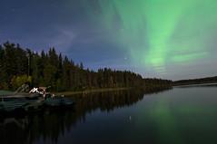Aurora Borealis (Daphilta) Tags: longexposure colors river nikon skies saskatchewan nikkor auroraborealis nothernlights 2470mm waskesui