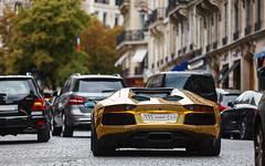 Lamborghini Aventador LP700-4 Roadster  |  Chrome gold (Valkarth) Tags: auto boss paris france car sport canon eos gold automobile europe dubai or dream automotive voiture east chrome arab coche arabe lp arabia 5d middle orient 700 qt lamborghini 70200 f28 supercar reve qatar mkii roadster v12 ksa 70200mm arabs lambo qtr moyen 700hp arabie qatari 7004 700cv sausi saoudite 700ch aventador lp700 lp7004