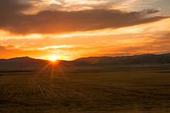 Driving  outside Levan Crazy Light 2014-9993 (houstonryan) Tags: sunset color art print photography utah photo interesting photographer ryan houston photograph sunburst levan houstonryan hosutonryan