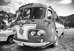 Travelling in Style (PhotosbyDi) Tags: old blackandwhite bw bus classic monochrome vintage transport vehicle 1956 oldbus nikond600 nikonf282470mmlens