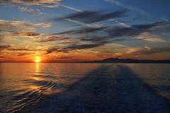 First greek sunset (Isadora B. Cardoso) Tags: sunset ferry greek greece grecia