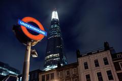 The Shard (mattrkeyworth) Tags: london night zeiss underground nacht londonunderground nuit a7r theshard mattrkeyworth sonya7r sel35f28z ilce7r sonnartfe2835