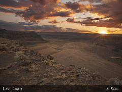 Last Light Over Frenchman Coulee (sking5000) Tags: county sunset river desert grant columbia sage gorge coulee frenchman