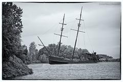 Grand Hermine replica (martinaschneider) Tags: ontario abandoned boat ship jordanharbour
