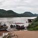 Vehicle ferry, Mekong River, Luang Prabang, Laos