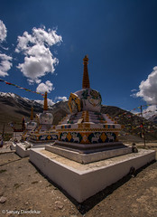 DSC_0172 (Sanjay Dandekar) Tags: landscapes prayerflags himalaya spiti kunzum buddhistculture 1024mm d5200 himalayansky