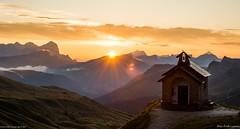 Passo Pordoi sunrise (pDOTeter) Tags: italy veneto livinallongodelcoldilana vakantie2014