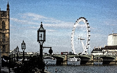 A view from the Terrace (pondhopper1) Tags: london londoneye iphone texturised iphone4s houseofcmmons