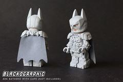 Ark Bathero with Cape (SHAPEWAYS BLACKOGRAPHIC) Tags: legobatman batman lego minifigure custom arkham arkhamknight