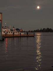 Moon river... (KaarinaT) Tags: moon sea kauppatori water moonlight balticsea thegulfoffinland seashore city helsinki moonlitt finland