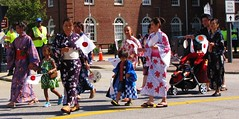 International Folk Festival Parade (4) (Gerry Dincher) Tags: internationalfolkfestival parade fayetteville cumberlandcounty northcarolina downtownfayetteville marketstreet haystreet personstreet greenstreet gillespiestreet multicultural japanese japan risingsun kimono