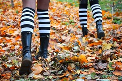 IMG_2639 (anthrax013) Tags: shoes stockings stripy drmartens autumn yellow leaves